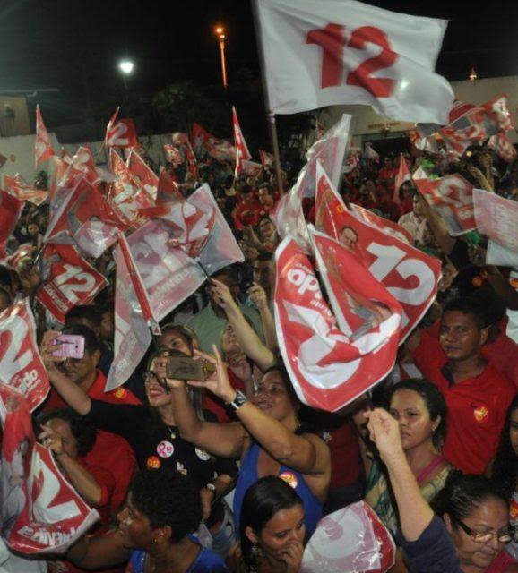 Centenas de eleitores participaram do encontro e confirmaram votar no 12.