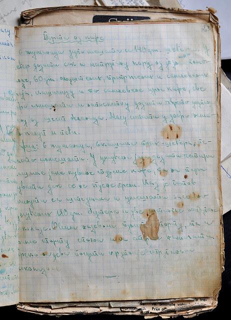 rukopis kafe torta