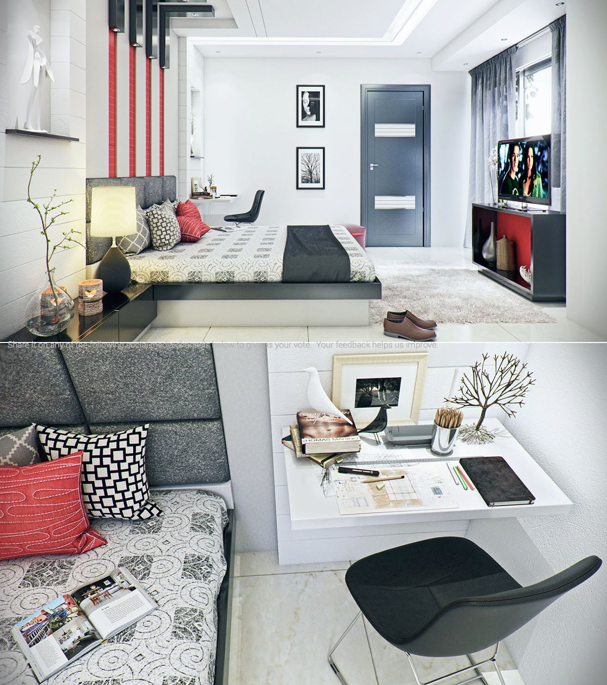 Modern iBedroomi Design Ideas for Rooms of Any Size