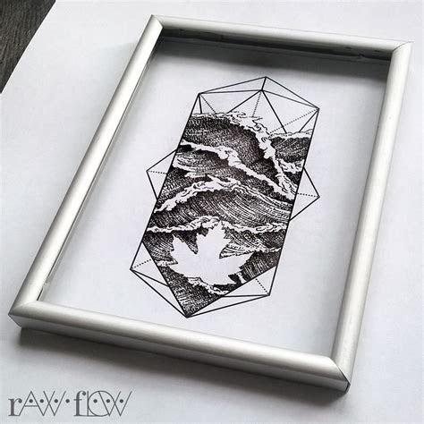 water ocean tattoo dotwork forearm geometric forearm