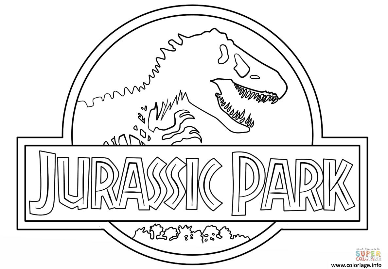 Coloriage Logo Jurassic Park Clean Jecoloriecom