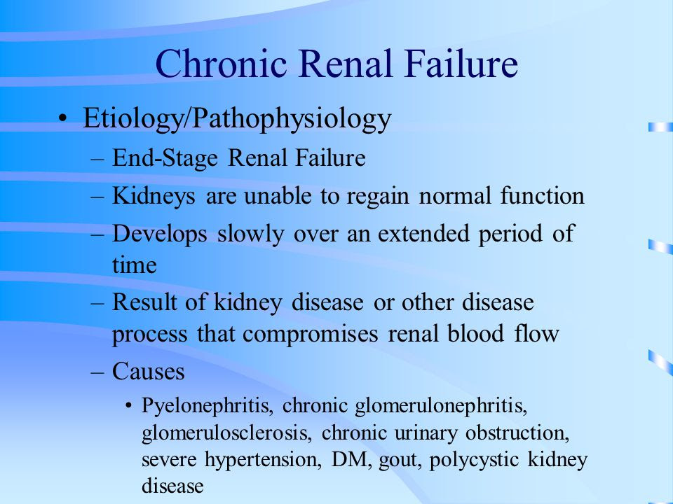 Hypertension In End Stage Renal Failure