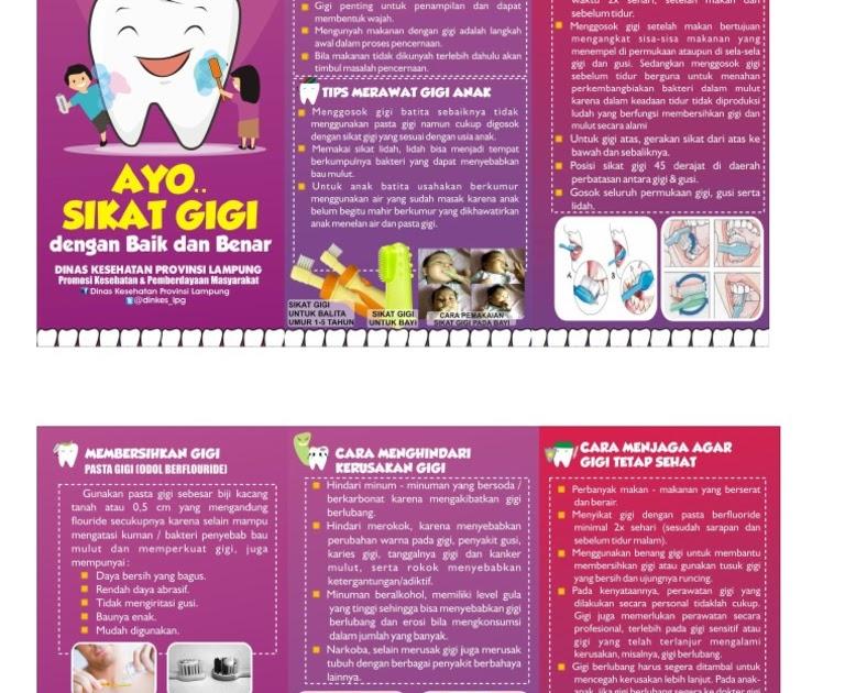 Hidup Sehat Leaflet Kesehatan Gigi Dan Mulut