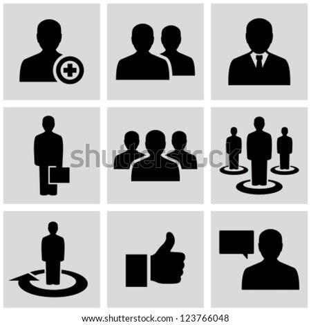 εικονίδια των επιχειρήσεων άνθρωπος