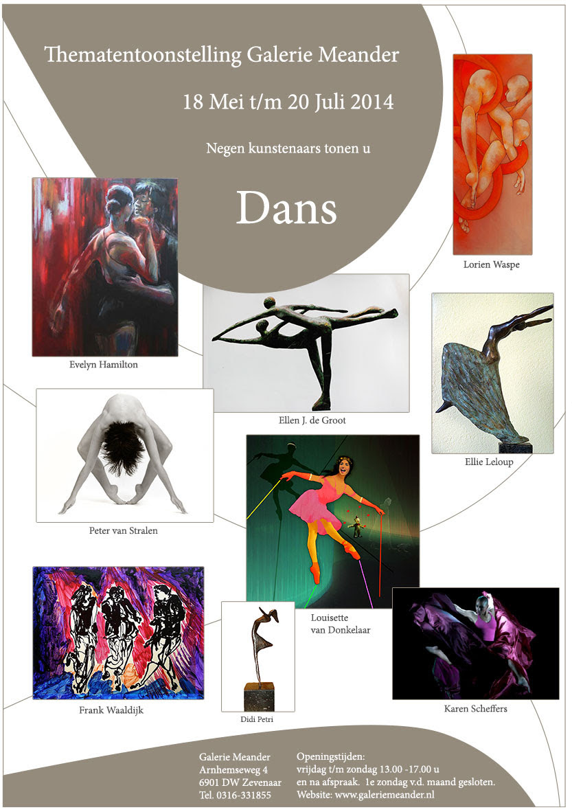 exhibition of dance art, galerie meander