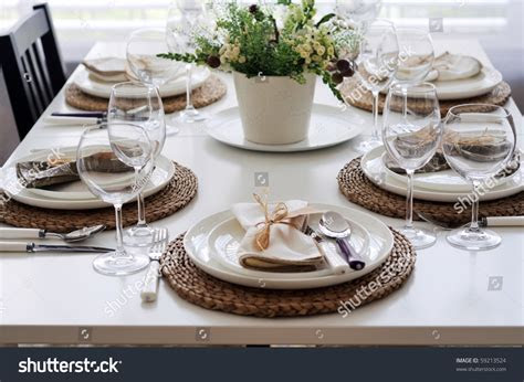 Summer Table Setting Lunch Stock Photo 59213524   Shutterstock