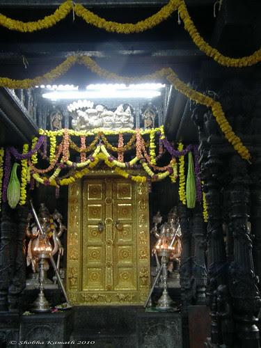 Golden Garbha Gudi Dwara of Venkatramana temple - Karkala