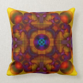 Crimson Mantra 4 American MoJo Pillow throwpillow