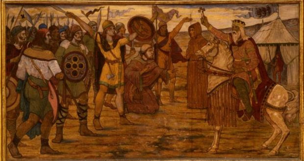 Victor: Brian Boru at Clontarf in 1014, painted in 1914 by James Ward. Photograph: courtesy of Dublin City Council