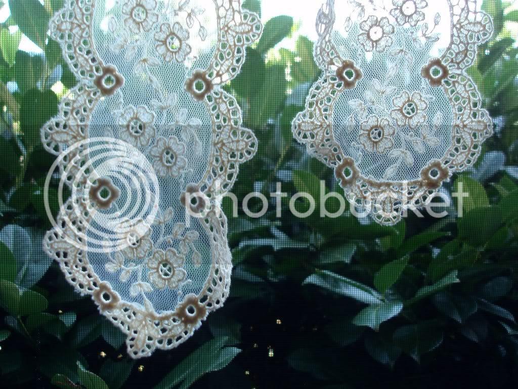 cream white lace