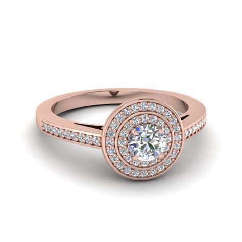 Look sophisticated with Double Halo Engagement Rings