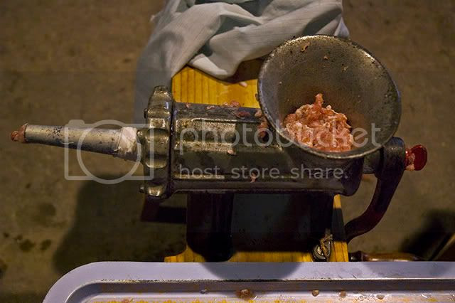 Meat Grinder: Sausage, The Making of. [enlarge]
