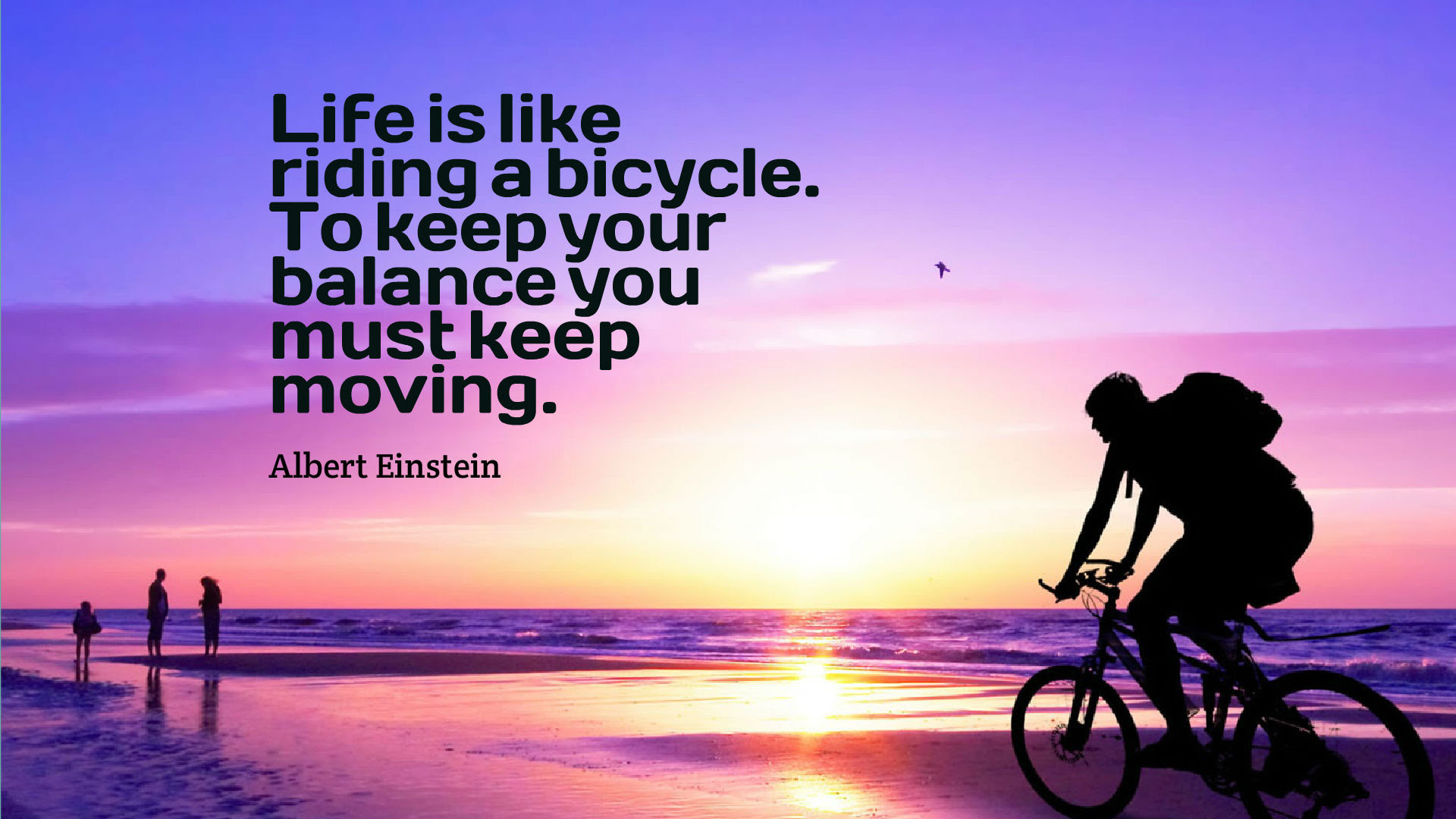Life Is A Riding Bicycle Quotes Wallpaper 10723 Baltana