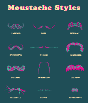 English: MOUSTACHE by yana segal
