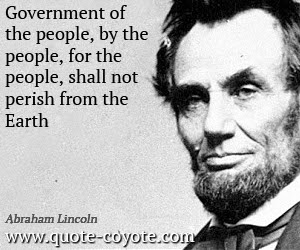 Abraham Lincoln Government Of The People By The People F