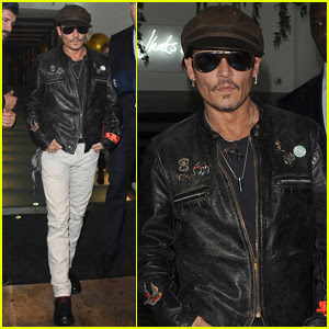 Johnny Depp Has a Night Out in London For a Friend's Birthday