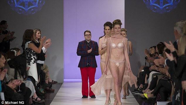 Positive response: As the show concluded, the audience gave the models a standing ovation