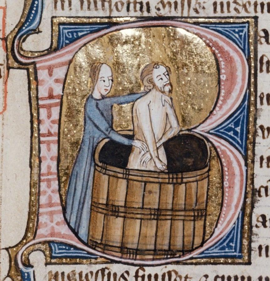 Hasil gambar untuk medieval people never bath