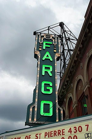 The marquee at the Fargo Theater in Fargo, Nor...