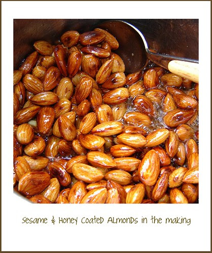 Sesame & Honey Coated Almonds