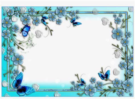Blue Floral Border Png Image Background   Border Design