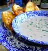 MUSHROOM SOUP WIF GARLIC BREAD..I LIKE!.