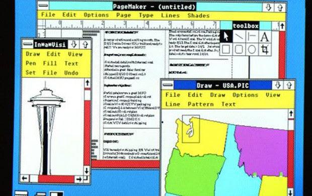 Em 1987 a Microsoft lançou o Windows 2.0 com memória ampliada, gráficos melhores e a possibilidade de sobrepor janelas, controlar o desenho da tela e usar atalhos no teclado para acelerar o trabalho (Foto: Divulgação/Microsoft)