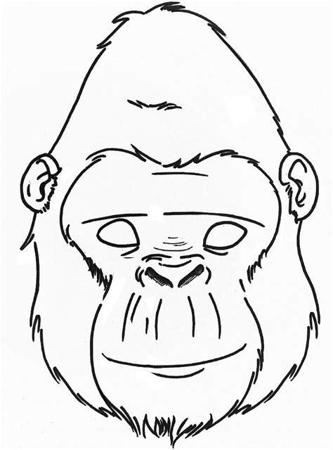 gorilla mask printable google search junior