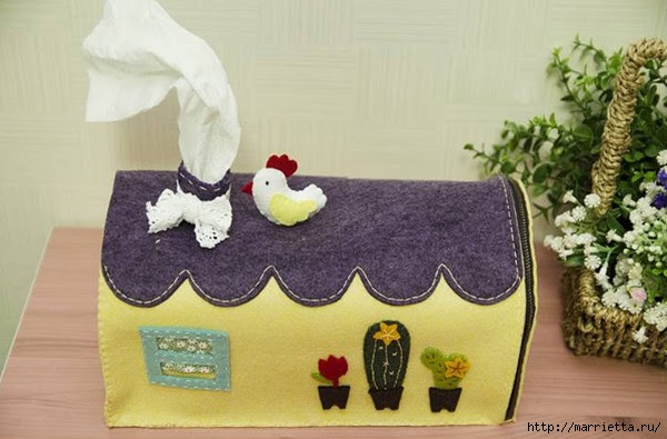 Fairy-tale carriage of felt - organizer for paper napkins (14) (600x395, 136Kb)