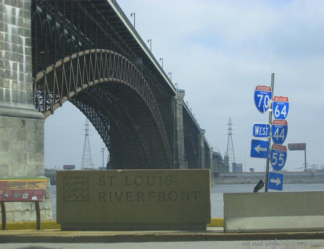 St Louis Riverfront Sign