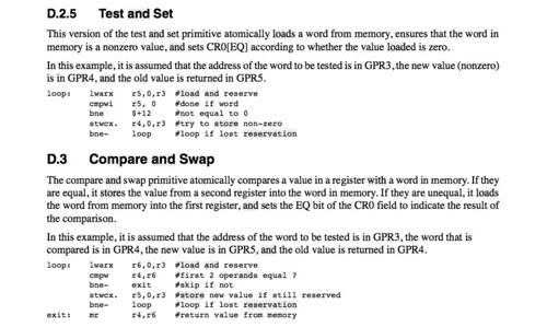 Test and Set, Compare and Swap