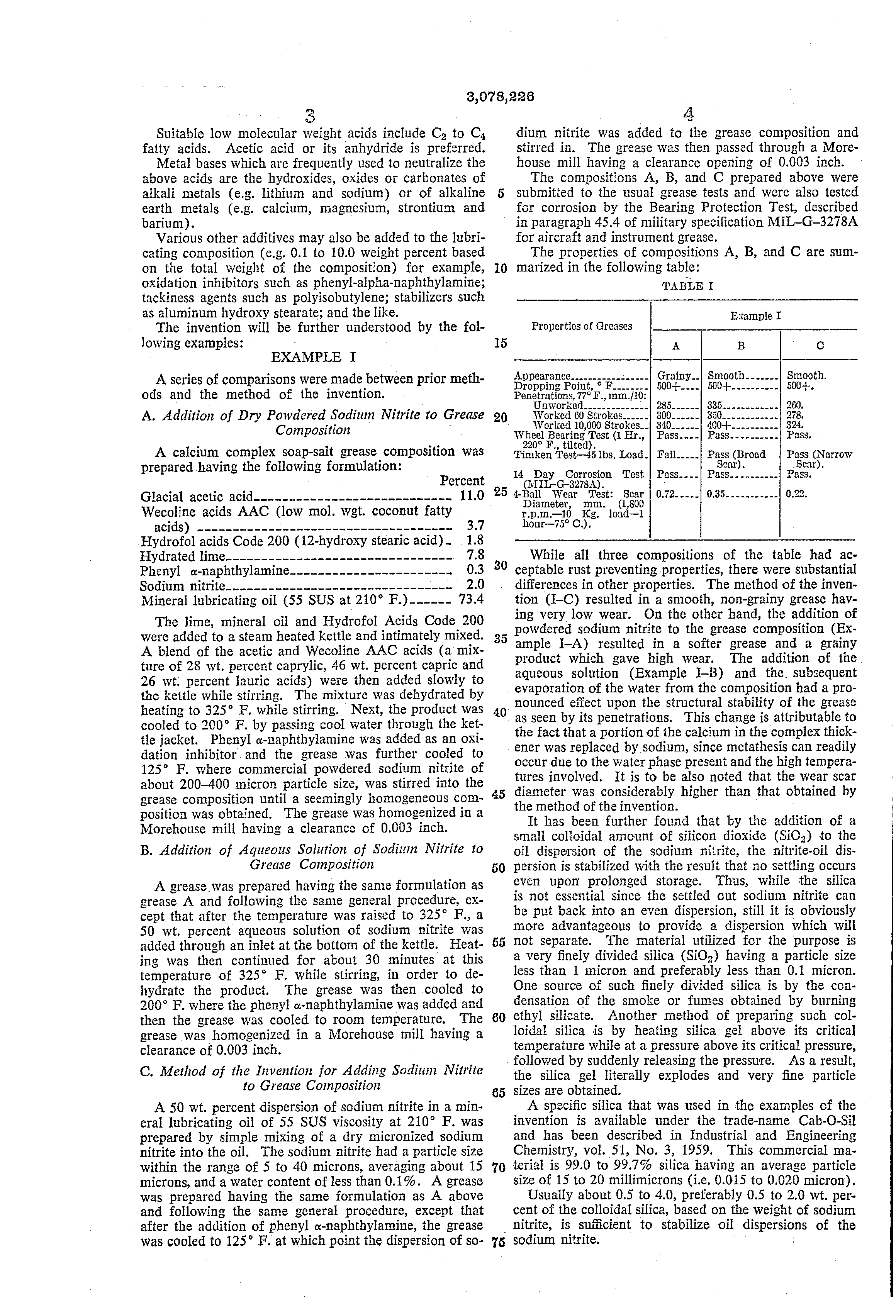 Patent Us3078226 Method For Dispersing Sodium Nitrite In Grease