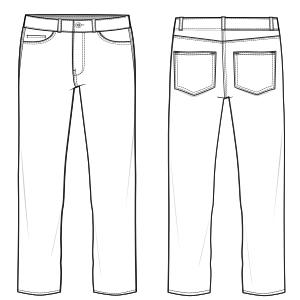 Pantalon Jean 6914 Pantalones Hombres Patrones Industriales De