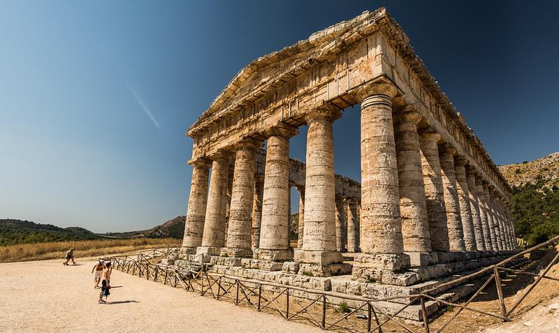 Segesta, panorámica del templo