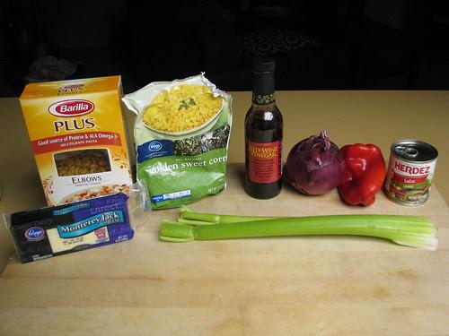 ingredients for Mac n' Jack Salad