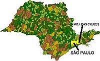Mapa de Localização - Mogi das Cruzes-SP