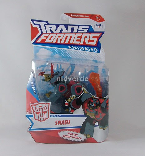 Transformers Snarl Animated Deluxe - caja (by mdverde)