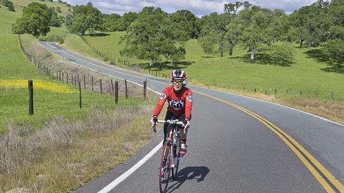tricia rides near Ione