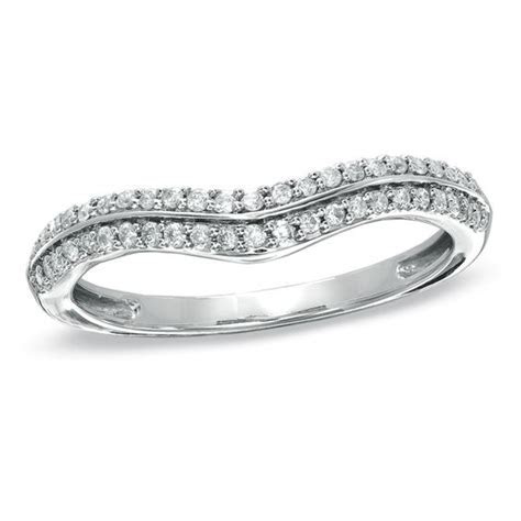 1/5 CT. T.W. Diamond Double Row Contour Wedding Band in