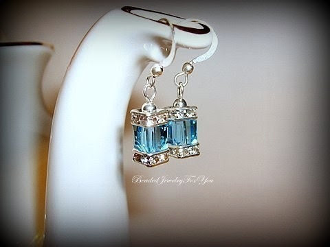 Aquamarine Crystal Earrings: Birthstone Earrings, Wedding Earrings, Bridal Jewelry, Custom Jewelry, Drop Earring, Wedding Jewelry, Blue Bea - beadedjewelryforyou