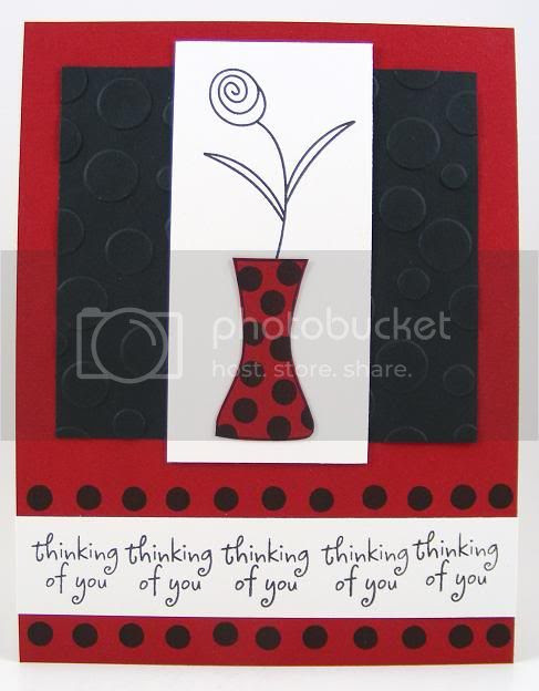 Polka Dot Vase Card