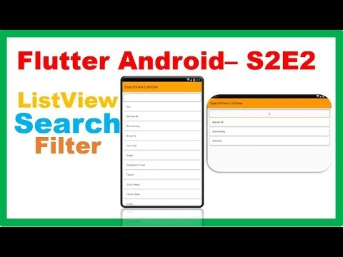 ProgrammingWizards: Flutter Android S2E2 : SearchView ListView