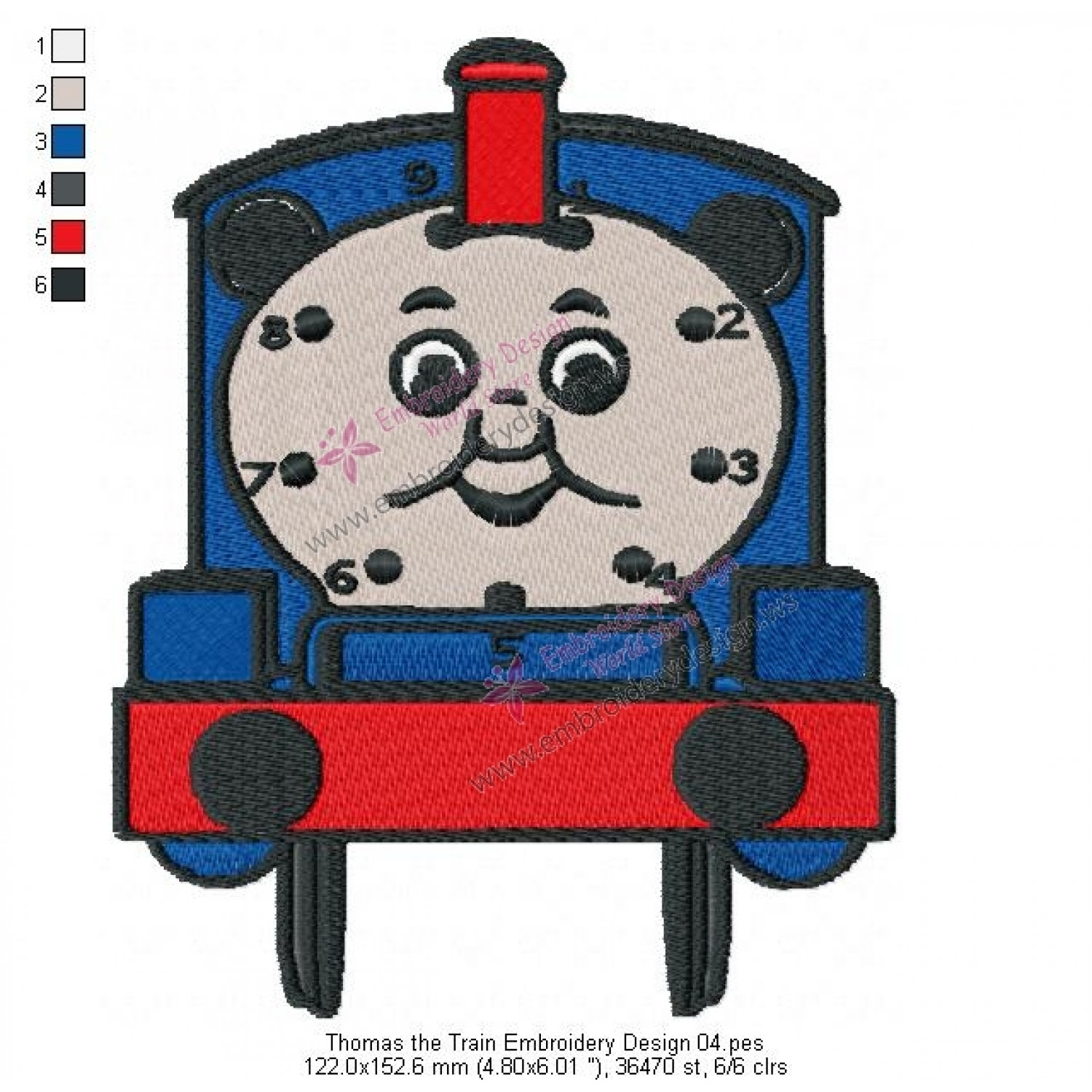 Thomas The Train Embroidery Design 04