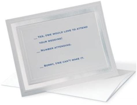 Wedding Invitations ? Response Cards and Their Wording