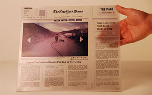 The Page: An E-Ink Newspaper That Won't Smudge Your Fingers