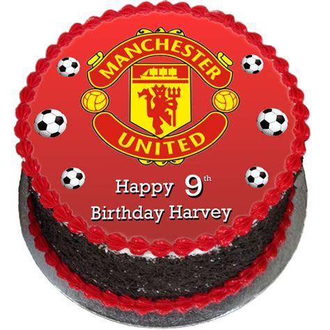 Man United Birthday Cake   Flecks Cakes