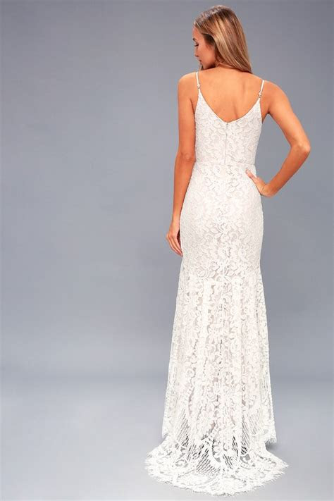 romantic lace dress bridal dress lace maxi dress