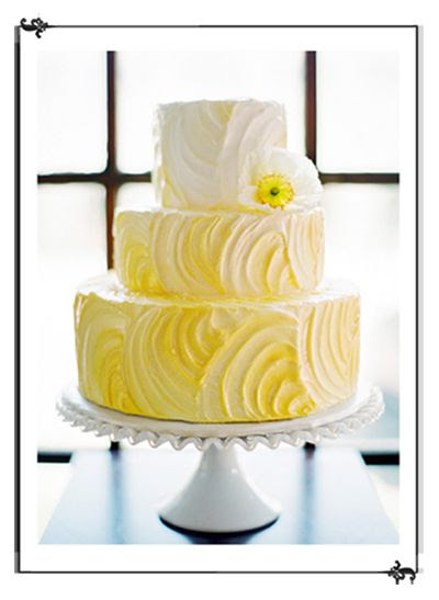 Gorgeous yellow and white cake - by Jana's Creative Cakes