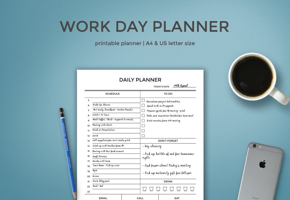 Daily planner | Etsy