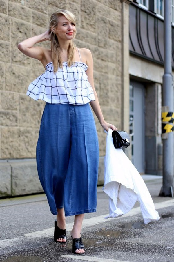 25 casual culottes outfit trends to change the way of styling
